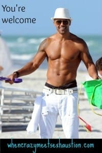Shemar on beach
