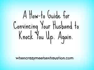 A How-To Guide for Convincing Your Husband to Knock You Up. Again.