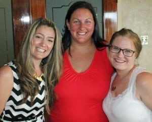 Me, my pal Brandy and my real-life BFF Jen :)
