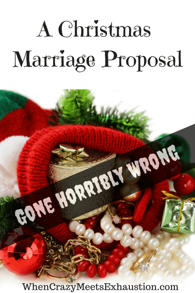 A #Christmas engagement gone hilariously wrong! WhenCrazyMeetsExhaustion.com