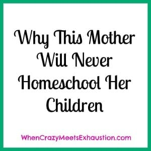 Why I Will Never Homeschool My Kids