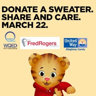 In honor of Rogers' favorite attire, families are encouraged to bring a new or gently worn sweater to the event. Sweater donations will be distributed to needy families throughout the region.