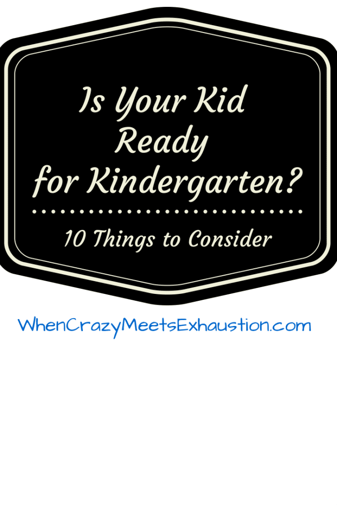 Is Your Child Ready for Kindergarten-