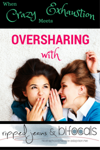 Oversharing: The come hither slither, chin hairs and other slices of midlife