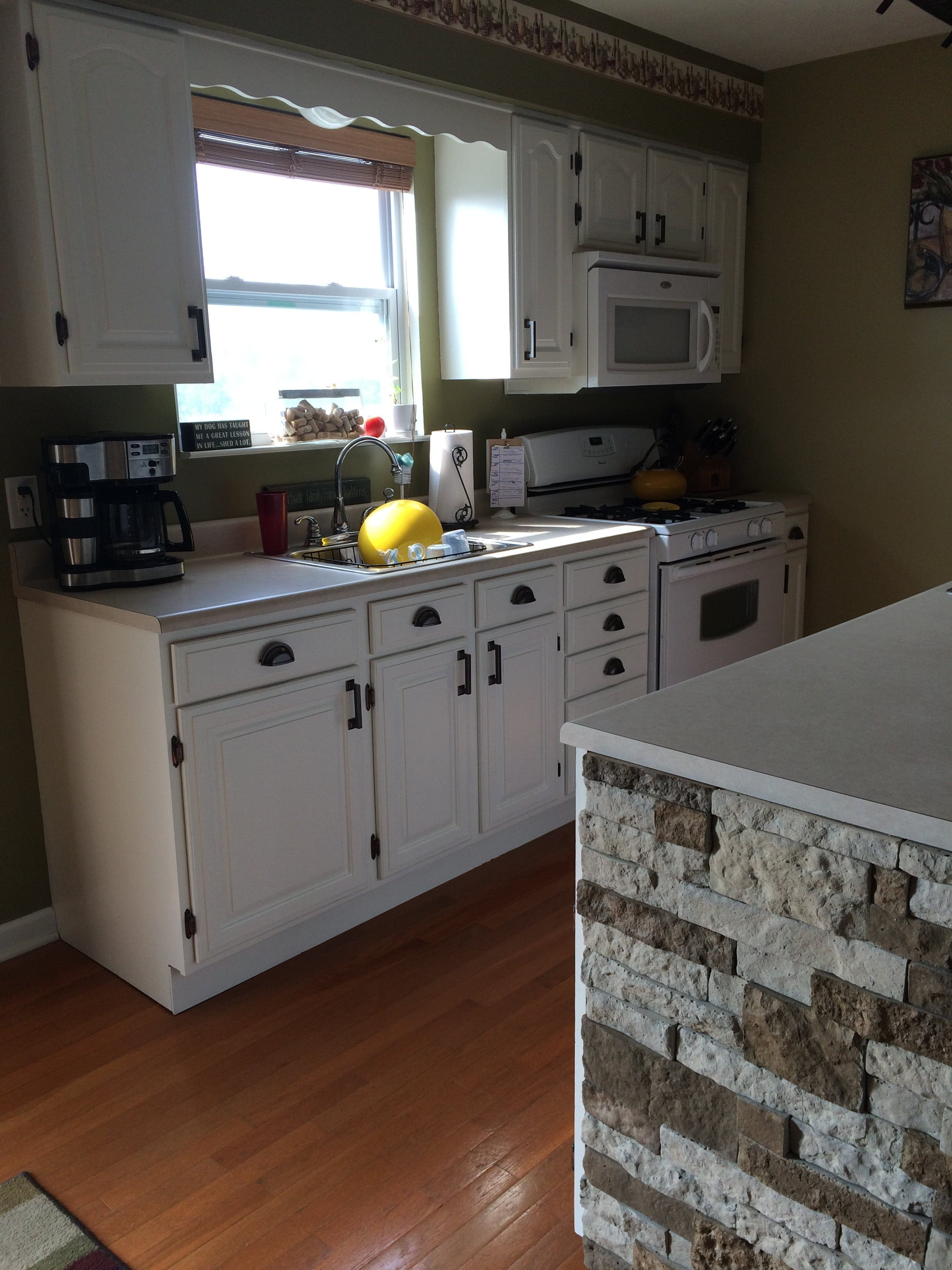 inspirational a re we here of same kitchen is outlet countertop new stone that cabinet the using has photo