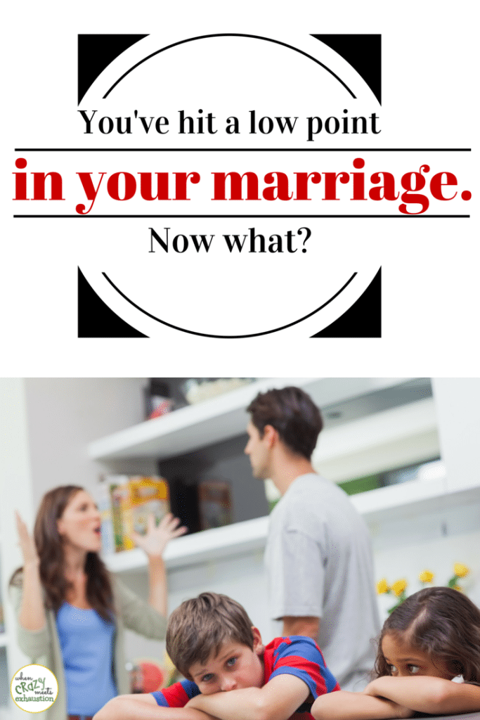 Low point in marriage