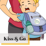 When goodbyes are difficult, kiss & go is best.