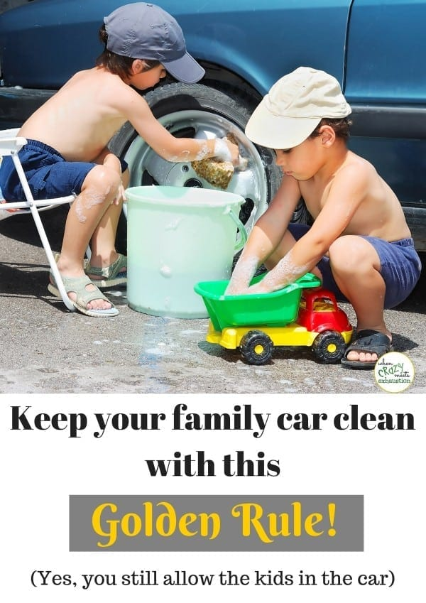 Keep your car clean even with the kids inside whencrazymeetsexhaustion How to keep your car exterior clean