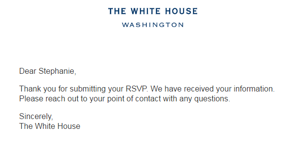 White House confirmation
