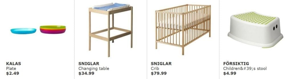 And just a few of IKEA's Top 20 baby gifts